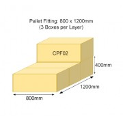 CPF02 Double Wall Pallet Fitting Plain Carton Box Ext 800x400x400mm, T150/M/T150 ABF