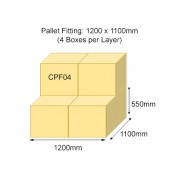 CPF04 Double Wall Pallet Fitting Plain Carton Box