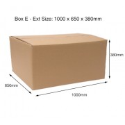Box E Double Wall Plain Carton