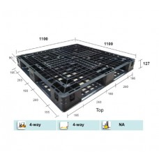 Double Deck 4 Way Plastic Pallet 1100 x 1100 x Height between 120mm & 127mm