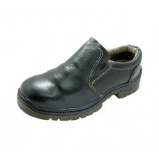 K2 TE2007K Black Grain Leather Slip-On Safety Shoes