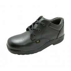 K2 TE7000 Black Grain Leather Laced  Safety Shoes