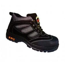 KM2 KM102 Black Safety Shoes Low Cut Rubber