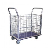 MM307 4 Side Neeting Metal Platform Trolley Load Capacity 300kg