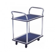 MM304 Double Deck Dual Handle Metal Platform Trolley Load Capacity 300kg