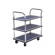 MM305 Tripple Deck Dual Handle Metal Platform Trolley Load Capacity 300kg