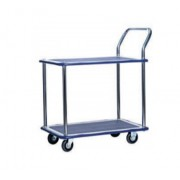MM314 Double Deck Single Handle Metal Platform Trolley Load Capacity 300kg