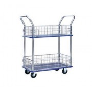 MM327 Double Deck c/w Side Netting Metal Platform Trolley Load Capacity 300kg