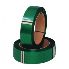 Polyester - PET Strap Green Smooth Size: 15.5mm x 0.85mm x 1400M